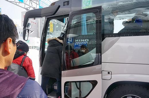 バスで試走会会場へ